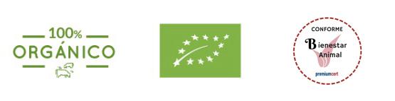 Certificados de calidad Nana orgánico eco bienestar animal