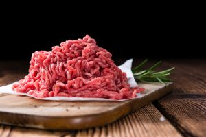 carne organica de cerdo picada
