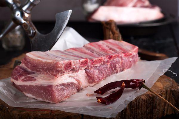 costillas de cerdo orgánico