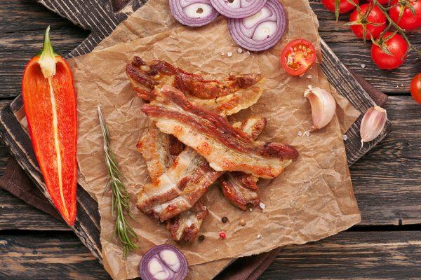 sugerencia presentación panceta de cerdo orgánico Nana